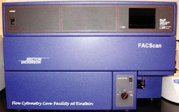 Imagen: El clasificador celular activado por fluorescencia, FACScan (Fotografía cortesía de BD).