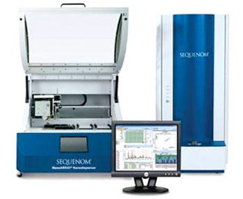 Imagen: El analizador MassARRAY 4, para la espectrometría de masas (Fotografía cortesía de Sequenom).