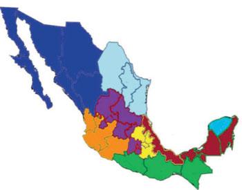 Imagen: Un mapa de México donde se muestran en color marrón las regiones endémicas de Leishmania estudiadas: de izquierda a derecha los estados de Veracruz, Tabasco, Campeche y Quintana Roo (Fotografía cortesía de la Prof. Monroy-Ostria A. et al, el Instituto Politécnico Nacional y la revista Interdisciplinary Perspectives on Infectious Diseases).