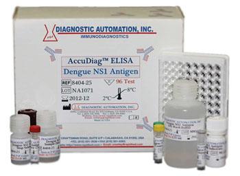 Un kit de análisis ELISA para el antígeno NS1 del virus del dengue (Fotografía cortesía de Diagnostic Automation).