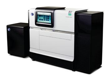 Imagen: El sistema PacBio RSII para la monitorización y el análisis de una sola molécula, mediante reacciones de secuenciación en tiempo real (SMRT) (Fotografía cortesía de Pacific Biosciences)