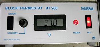 Imagen: El Blockthermostat BT 200 (Fotografía cortesía de Kleinfeld Labortechnik).