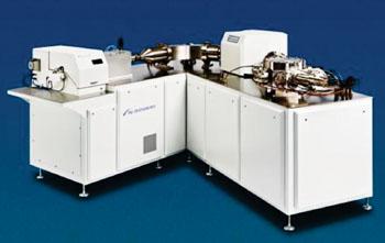 Imagen: El espectrómetro de masas de colector múltiple, acoplado inductivamente al plasma, Nu Plasma II (MC-ICP-MS) (Fotografía cortesía de Nu Instruments).