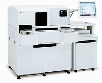 El sistema de inmunoanálisis automatizado de la serie HISCL-5000 (Fotografía cortesía de Sysmex).