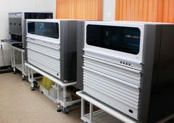 Imagen: El sistema de cribado de la sangre y plasma usando la tecnología de amplificación de ácidos nucleicos (NAT), con multi-colorantes, cobas 201 (Fotografía cortesía del Banco de Sangre Jankalyan).