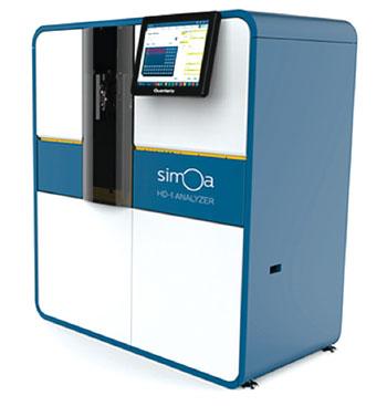 Imagen: La tecnología de array de una sola molécula (Simoa) y la plataforma de inmunoensayo digital, totalmente automatizada HD-1 (Fotografía cortesía de Quanterix).