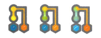 Imagen: La propiedad de transporte de fluidos única de la plataforma es demostrada en la figura usando fluidos que contienen un colorante (Fotografía cortesía de Labonachip).