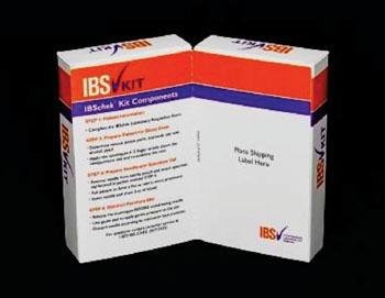 Imagen: El kit de prueba de sangre IBSchek para el síndrome del intestino irritable (Fotografía cortesía de Commonwealth Laboratories).