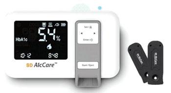 Imagen A: El analizador SD A1cCare para el punto de atención (Fotografía cortesía de SD Biosensor).