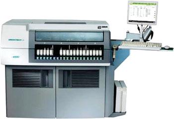 Imagen: El analizador ARCHITECT ci4100 para pruebas de química clínica e inmunoanálisis (Fotografía cortesía de Abbott Diagnostics).