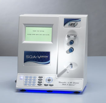 Imagen: El Analizador Automatizado de Calidad del Semen SQA-VISION (Fotografía cortesía de Medical Electronic Systems).