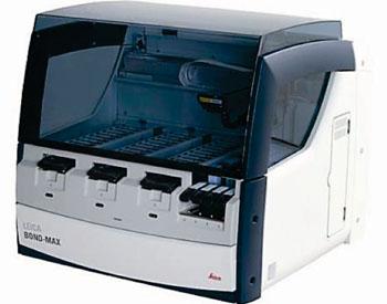 Imagen: El immuncoloreador automatizado Bond-Max (Fotografía cortesía de Leica Biosystems).