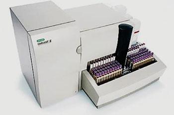Imagen: El sistema de análisis de hemoglobina VARIANTII,  totalmente automatizado (Fotografía cortesía de Bio-Rad).