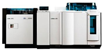 Imagen: El analizador modular cobas 8000 (Fotografía cortesía de Roche Diagnostics).