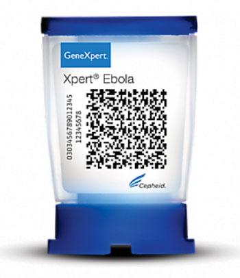 Imagen: El cartucho de GeneXpert, Xpert Ébola (Fotografía cortesía de Cepheid).